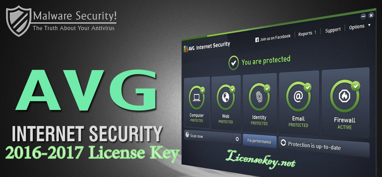 Avg Internet Security 2016 2017 License Key Full Free