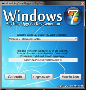 Windows 7 Keygen 100% Working Activator