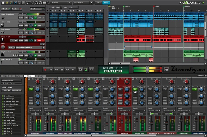 Acoustica Mixcraft Pro Studio 8 License Key & Crack Full Download