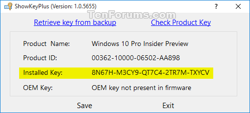free window 10 product key